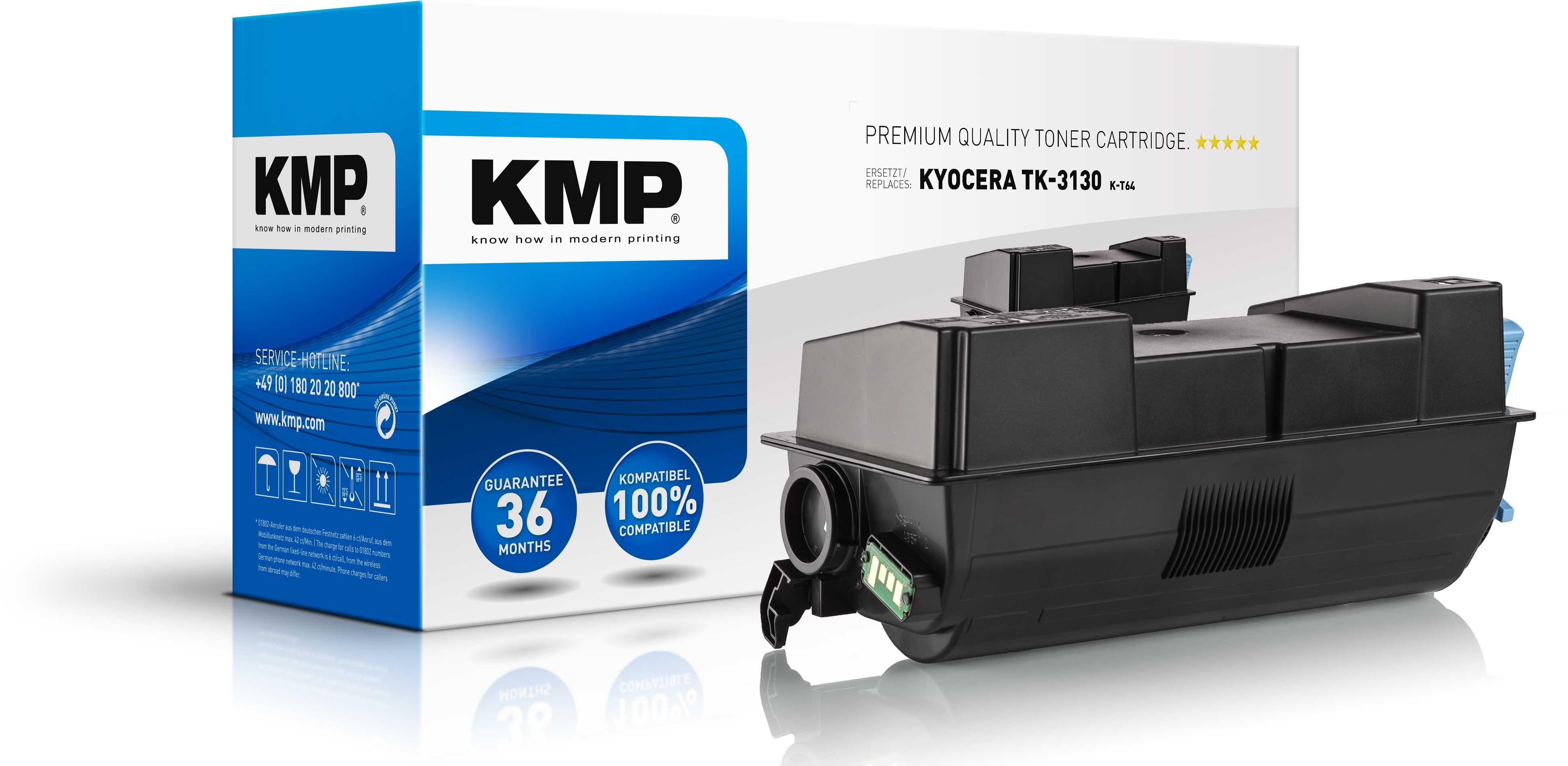 KMP Toner K-T64 für Kyocera TK-3130 FS-4200DN etc. black