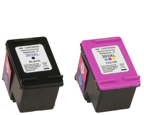 2x SAD Premium XL Patronen kompatibel mit HP 303XL / 3YN10AE Schwarz + Color