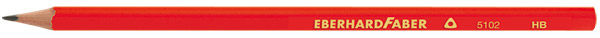 EberhardFaber Bleistift Dreikant HB rot