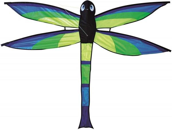 Paul Günther 1148 - Kinderdrachen Bella, Einleinerdrachen in Form einer Libelle, farbenprächtiger Si
