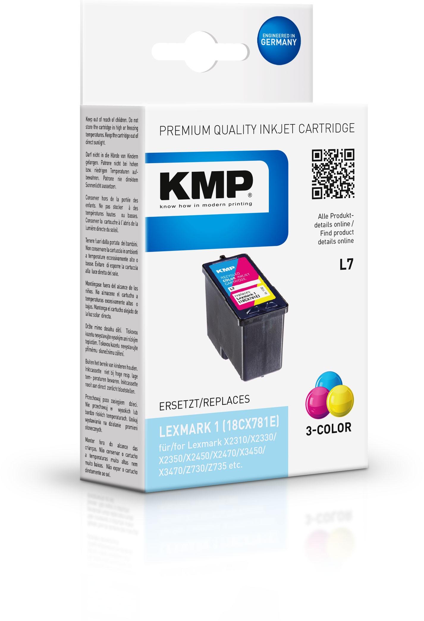 KMP Patrone L7 komp. 18C0781E Nr. 1 Lexmark X2310/Z730 color