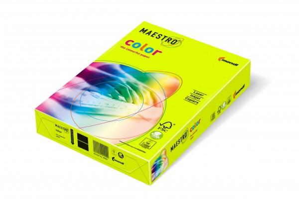 Mondi Maestro Color neongelb 80g/m² DIN-A4 - 500 Blatt NEOGB