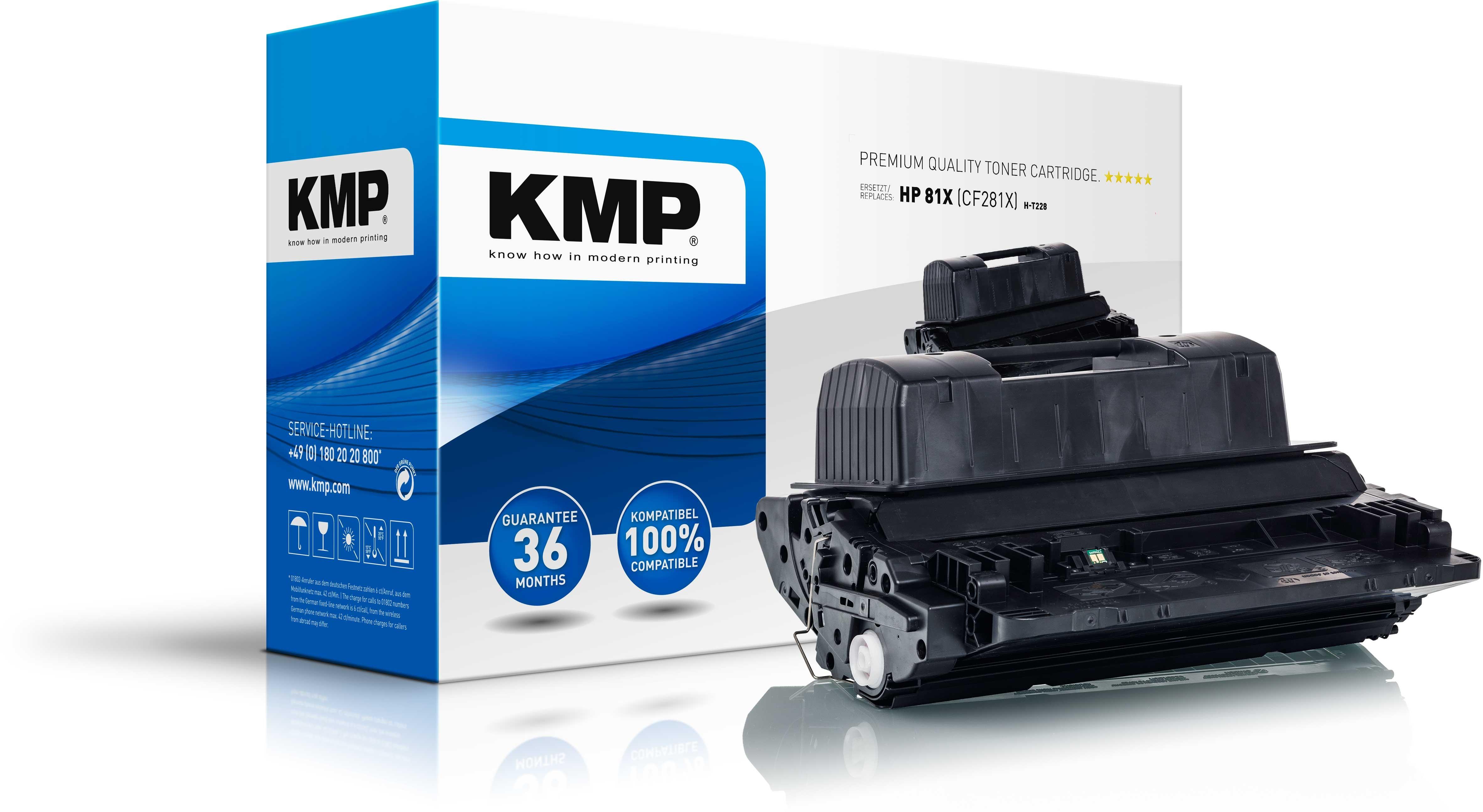 KMP Toner H-T228  für HP CF281X Laserjet Enterprise M605 Serie etc. black