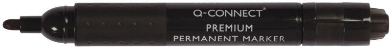 Q-Connect Permanentmarker Premium, ca. 3 mm, schwarz (10er Pack)