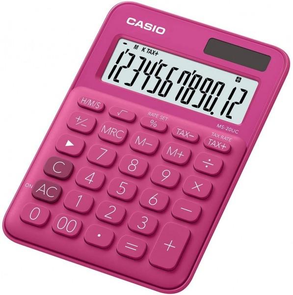 Casio MS-20UC-RD Tischrechner, 12-stellig, in zehn Farbvarianten