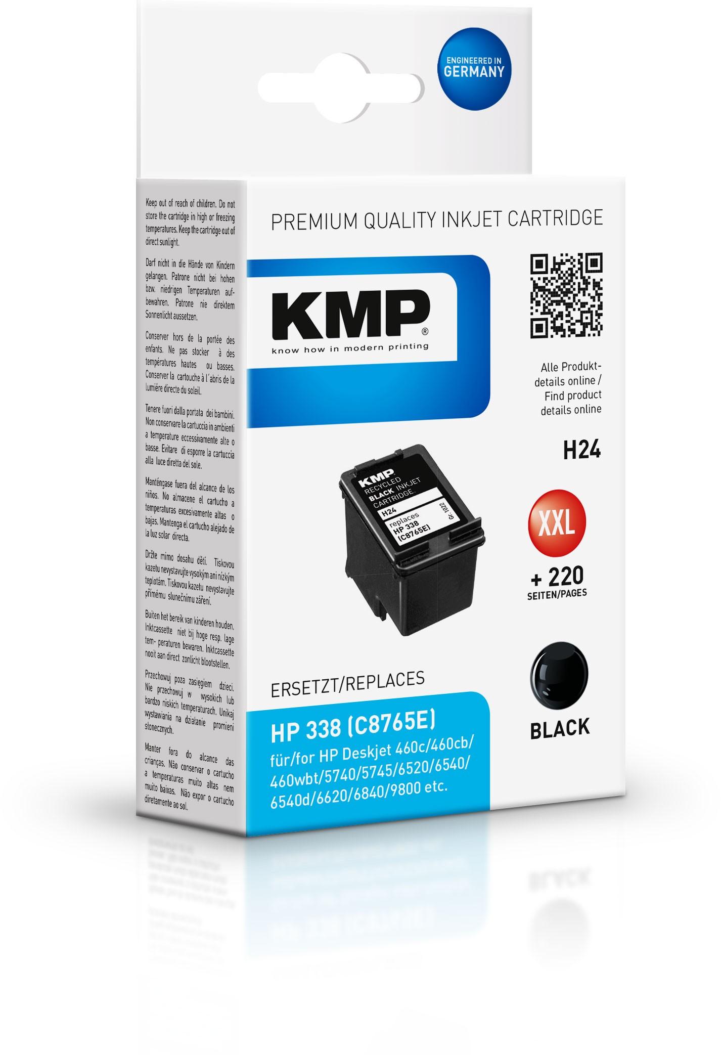 KMP Patrone H24 komp. zu HP 338 C8765E DeskJet 6540 9800 black