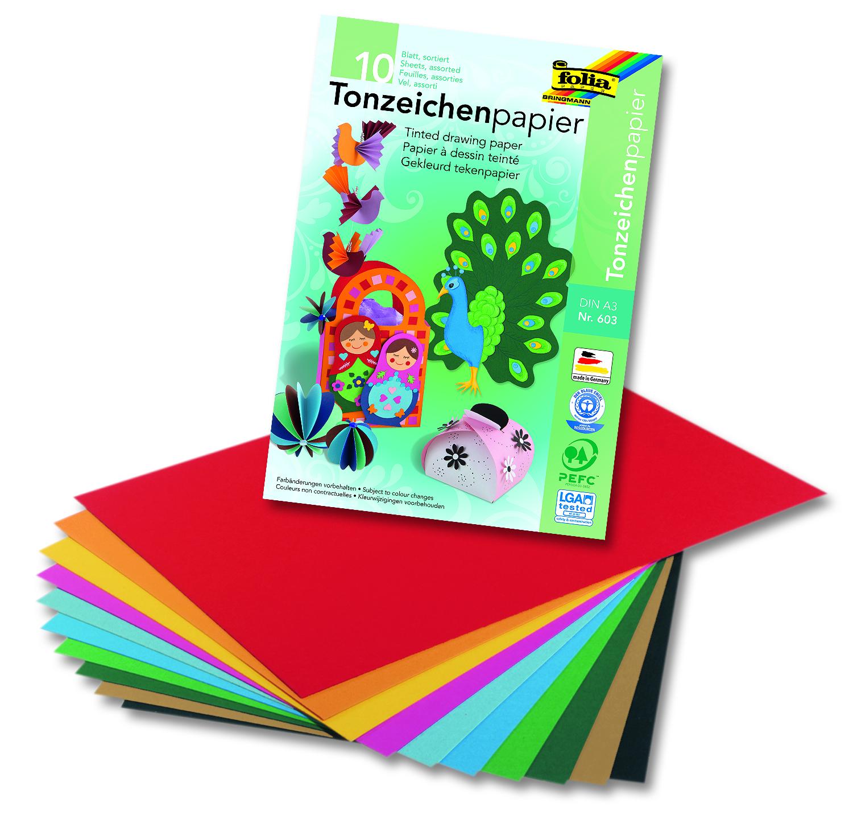 Folia Tonpapierblock DIN A3 130g/m² 10 Blatt