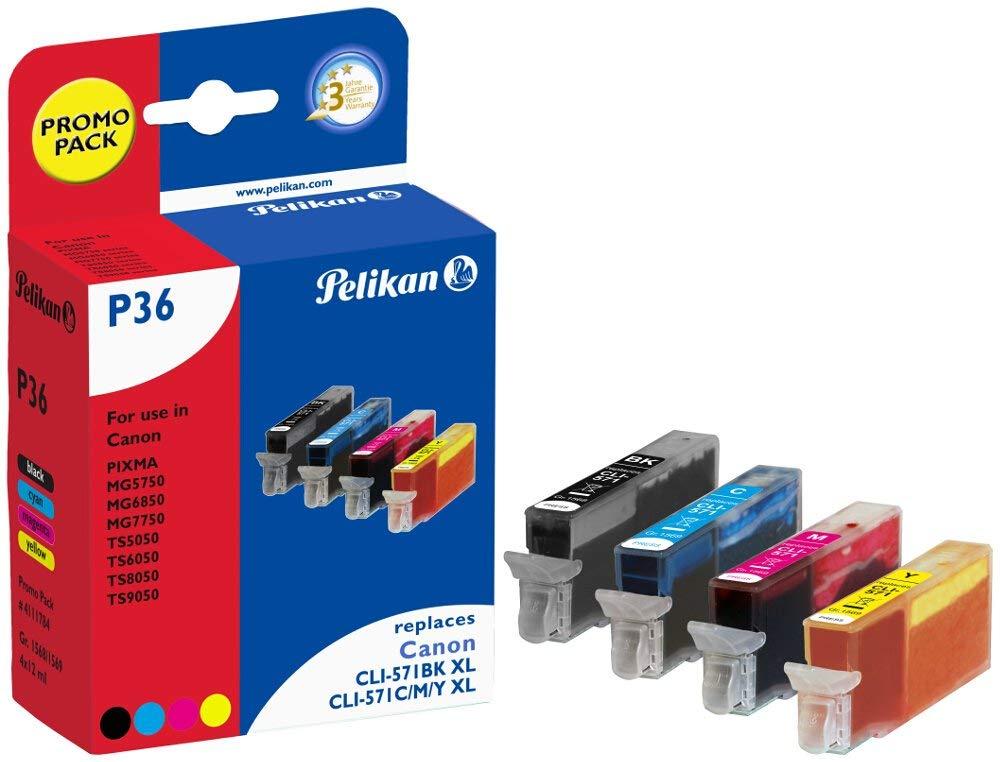 Pelikan Tintenpatrone ersetzt Canon CLI-571XL 4C, B/C/M/Y, 5565 Seiten