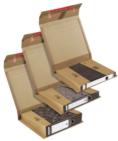 ColomPac® Ordnerversandverpackung 320x290x35-80 mm, braun