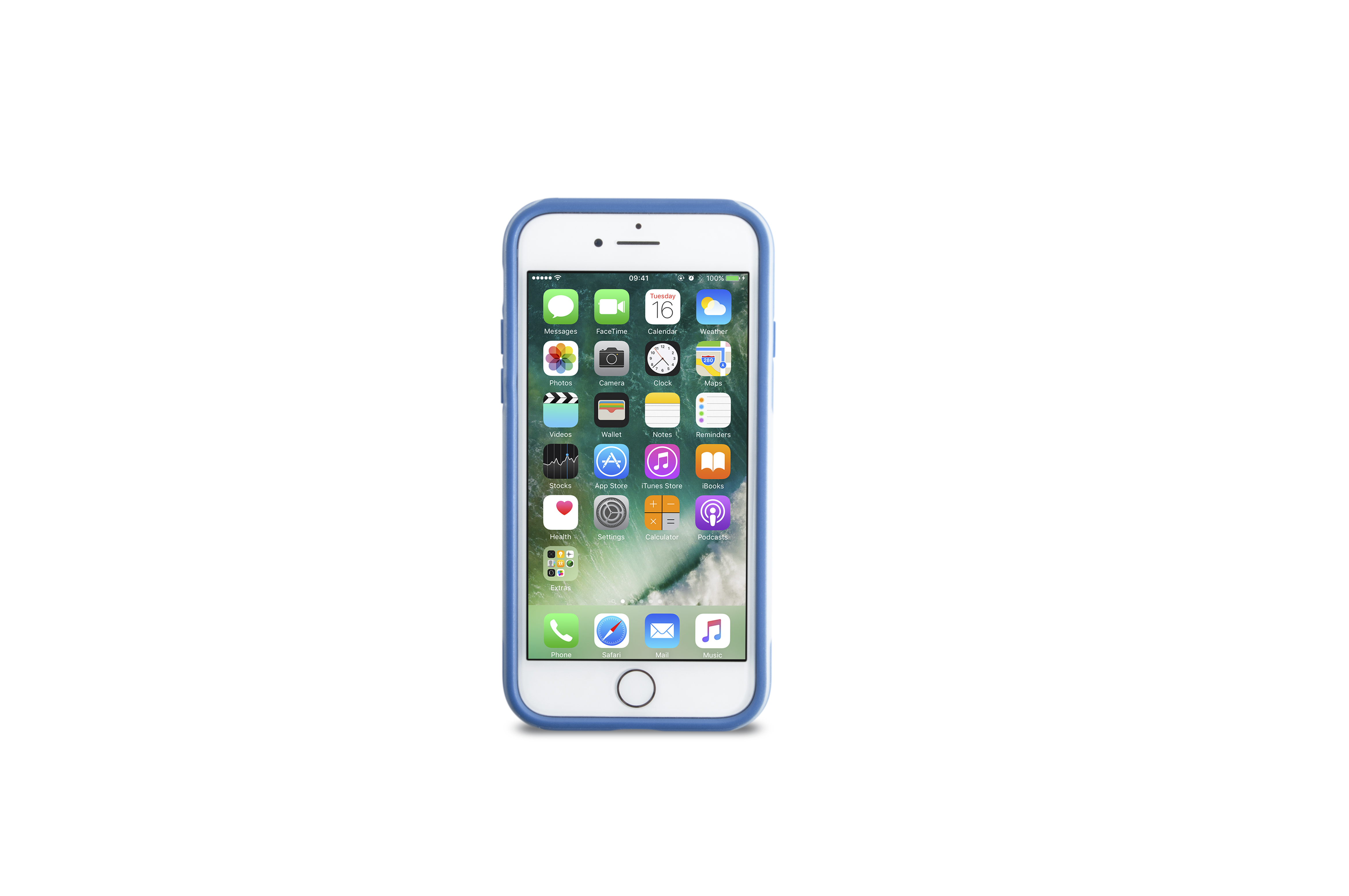 KMP Schutzhülle Sporty Case für Apple iPhone 7, blue flow