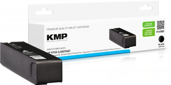 KMP H165BX schwarz Tintenpatrone ersetzt HP Page Wide Pro HP 973XL (L0S07AE)