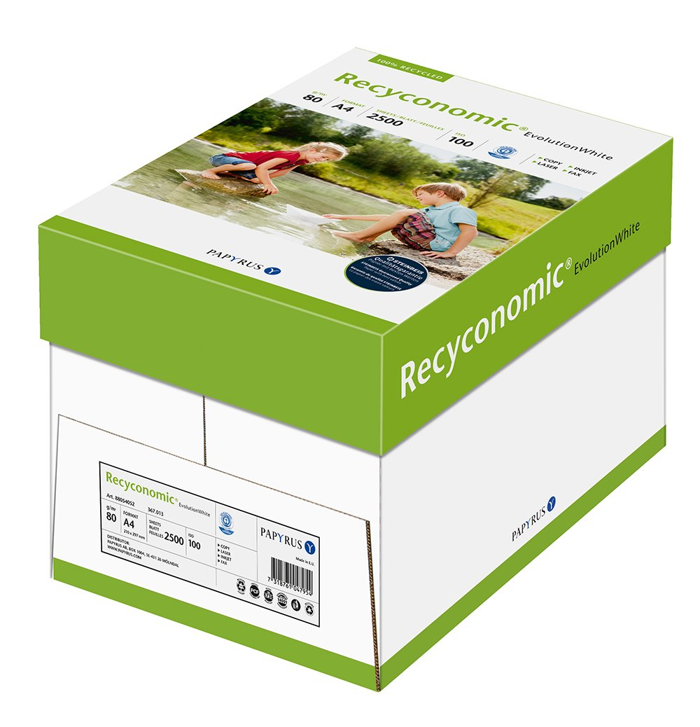 Papyrus 88054052 Recycling-Papier, Druckerpapier Recyconomic EvolutionWhite 80 g/m ² DIN-A4, 2500 Bl