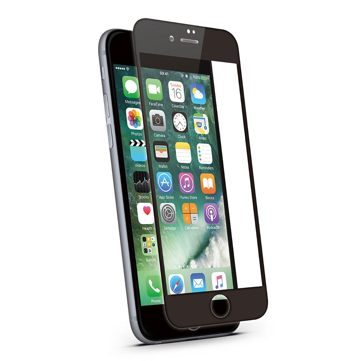 KMP Schutzglas für Apple iPhone 7 Plus schwarz / black