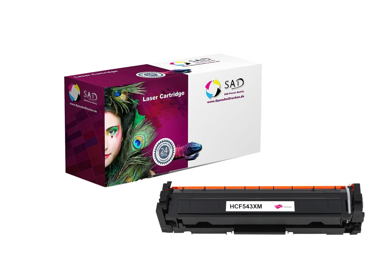 SAD Premium Toner komp. zu HP 203X - CF543X magenta für HP LaserJet Pro M254, HP LaserJet Pro M280,