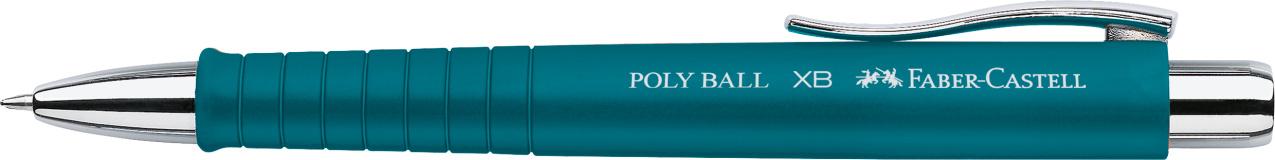 Faber-Castell Kugelschreiber Poly Ball XB - Mine M, dokumentenecht, petrol