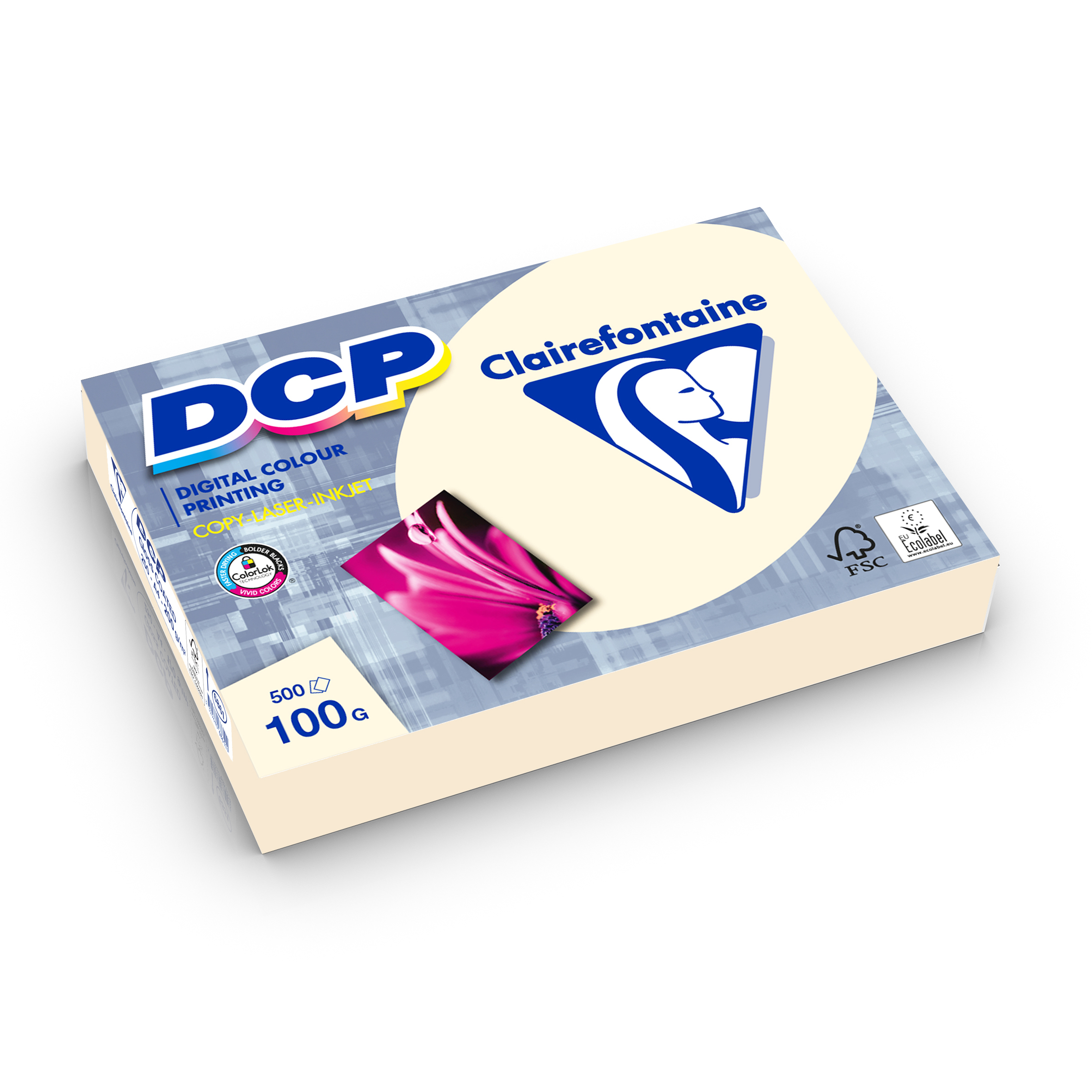 Clairefontaine DCP Ivory elfenbein digital color printing 100g/m² DIN-A4 500 Blatt 1861C