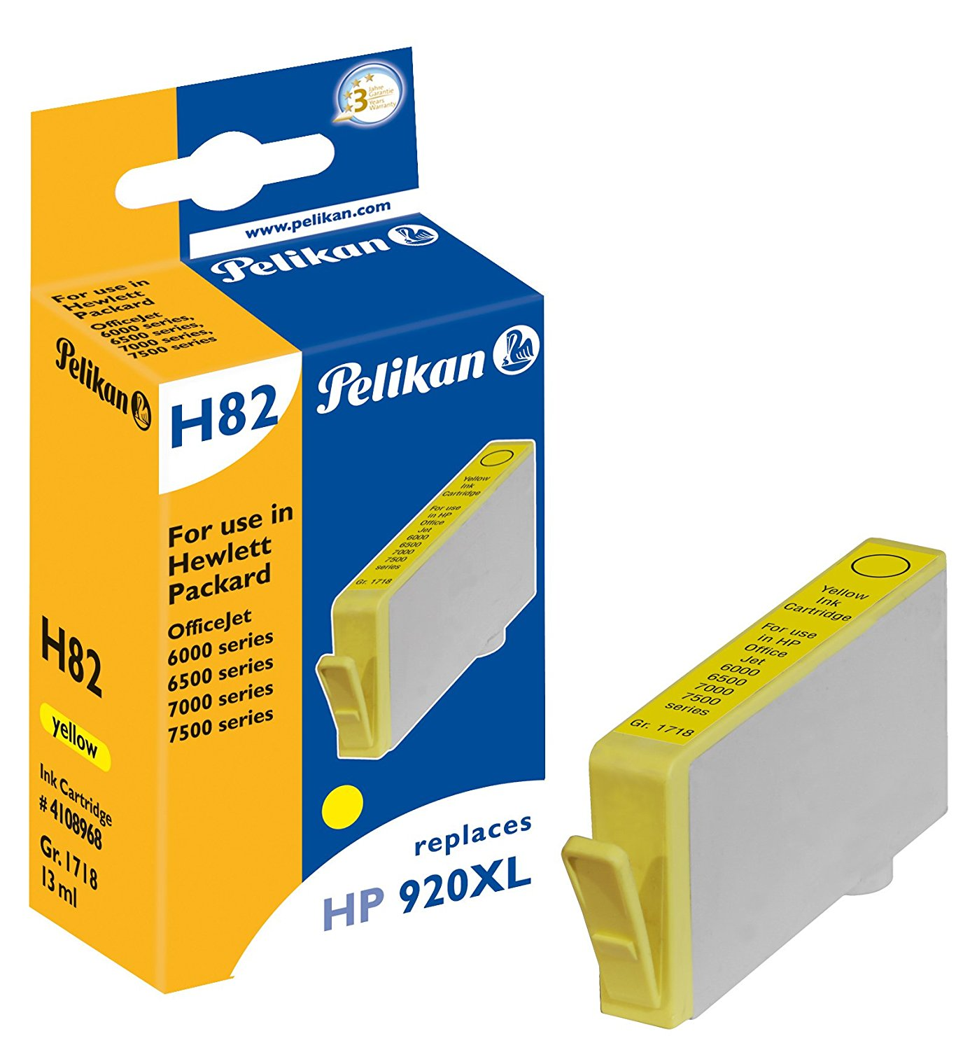 Pelikan Patrone H82 für HP 920XL Y OfficeJet 6000 etc. yellow