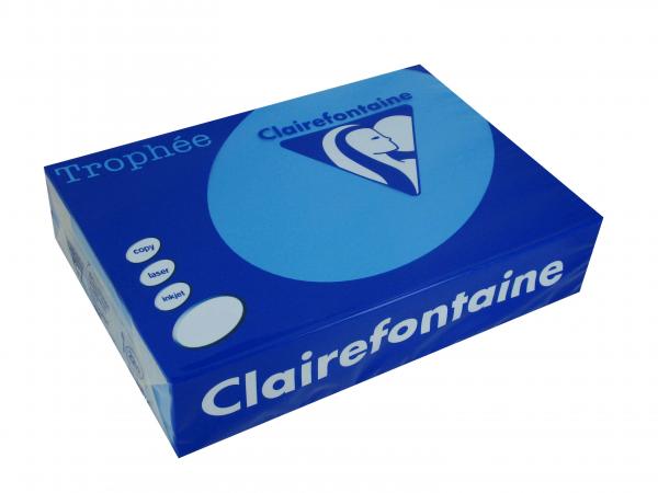 Clairefontaine Trophee Color FSC Mix Karibikblau 80g/m² DIN-A4 - 500 Blatt
