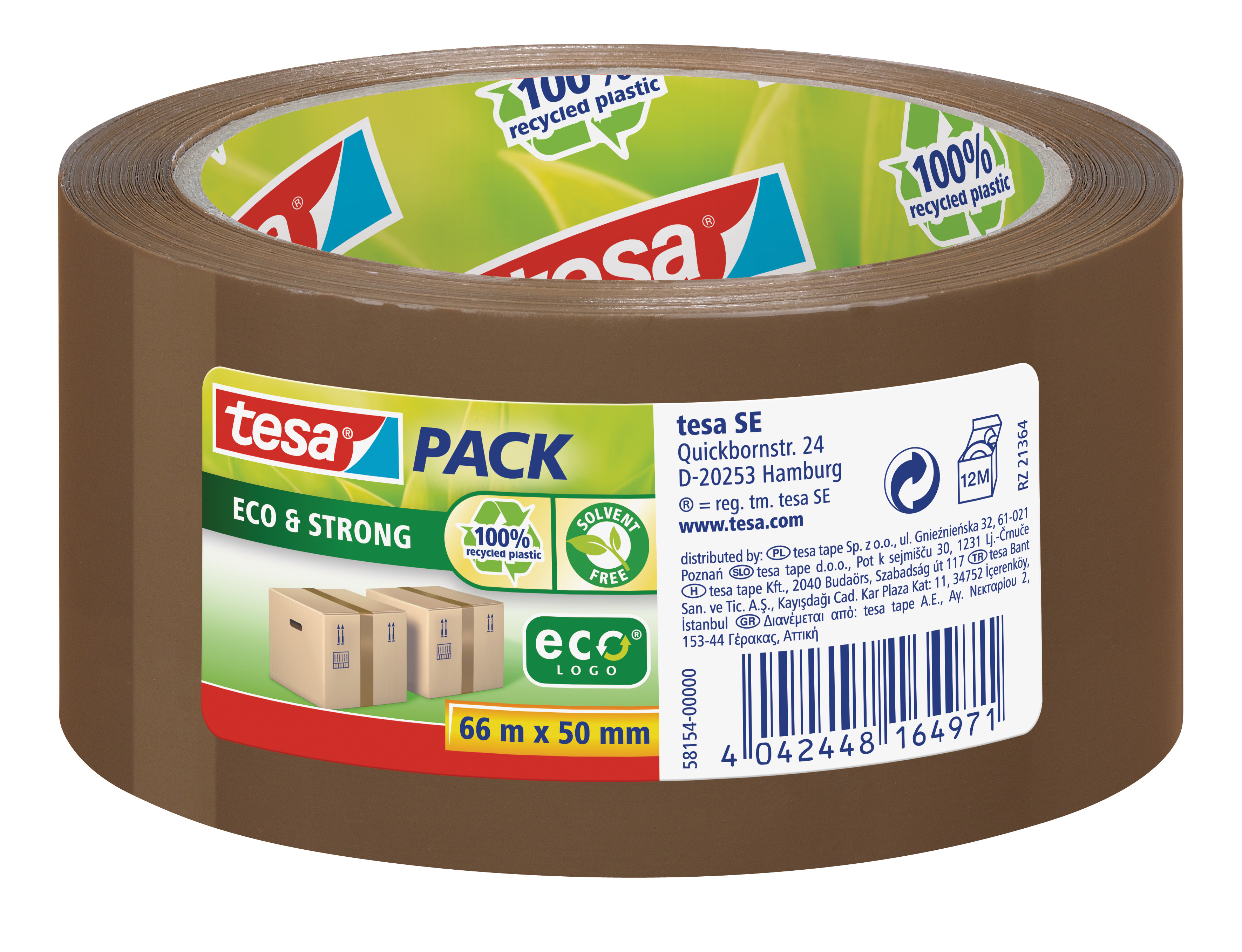 GP: 0,05 EUR/m tesa tesapack Eco & Strong 66m x 50mm braun