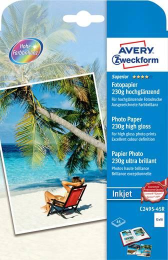 Avery Zweckform C2495-45R Superior Inkjet Fotopapier, 13 x 18, einseitig beschichtet, 230 g/m², 45 B