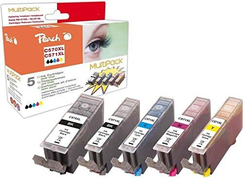 Peach Multi-Pack PI100-302 für Canon PGI-570/CLI-571XL, 5x ink, bk,phbk,c,m,y, 1x22/4x11ml
