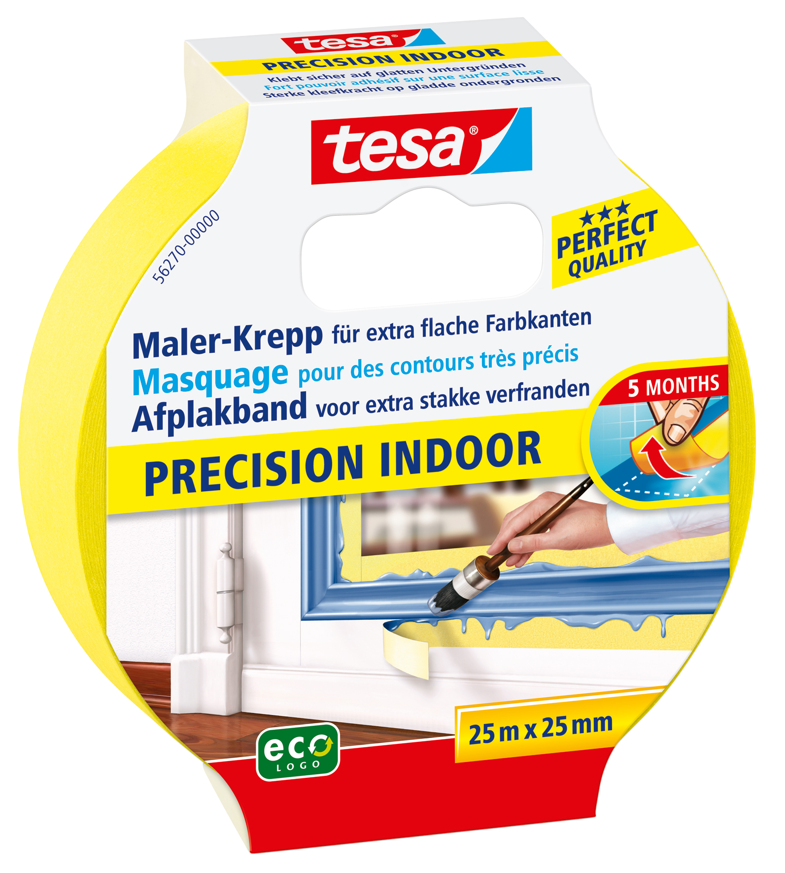 GP: 0,13 EUR/m 6 x tesa Maler-Krepp Precision Indoor 25 m x 25 mm