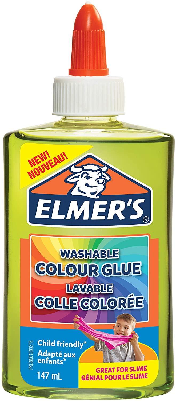 Elmer's transparenter, farbiger PVA-Kleber | grün | 147 ml | auswaschbar | ideal zur Herstellung von