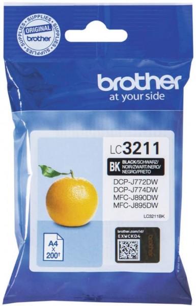 Brother Original Tintenpatrone LC-3211BK (schwarz) (für Brother DCP-J772DW, DCP-J774DW, MFC-J890DW,