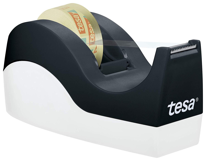 Vorschau: tesa Easy Cut Orca Tischabroller (rutschfest, einfache Handhabung, sauberer Schnitt mit 1 Rolle tesa
