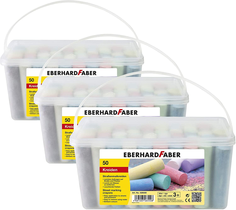 Eberhard Faber 526550 - Straßenmalkreide, 50er Eimer | 3 Eimer