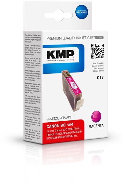 KMP Patrone C17 komp. zu BCI-6M Canon Pixma 4000 5000 6000 magenta