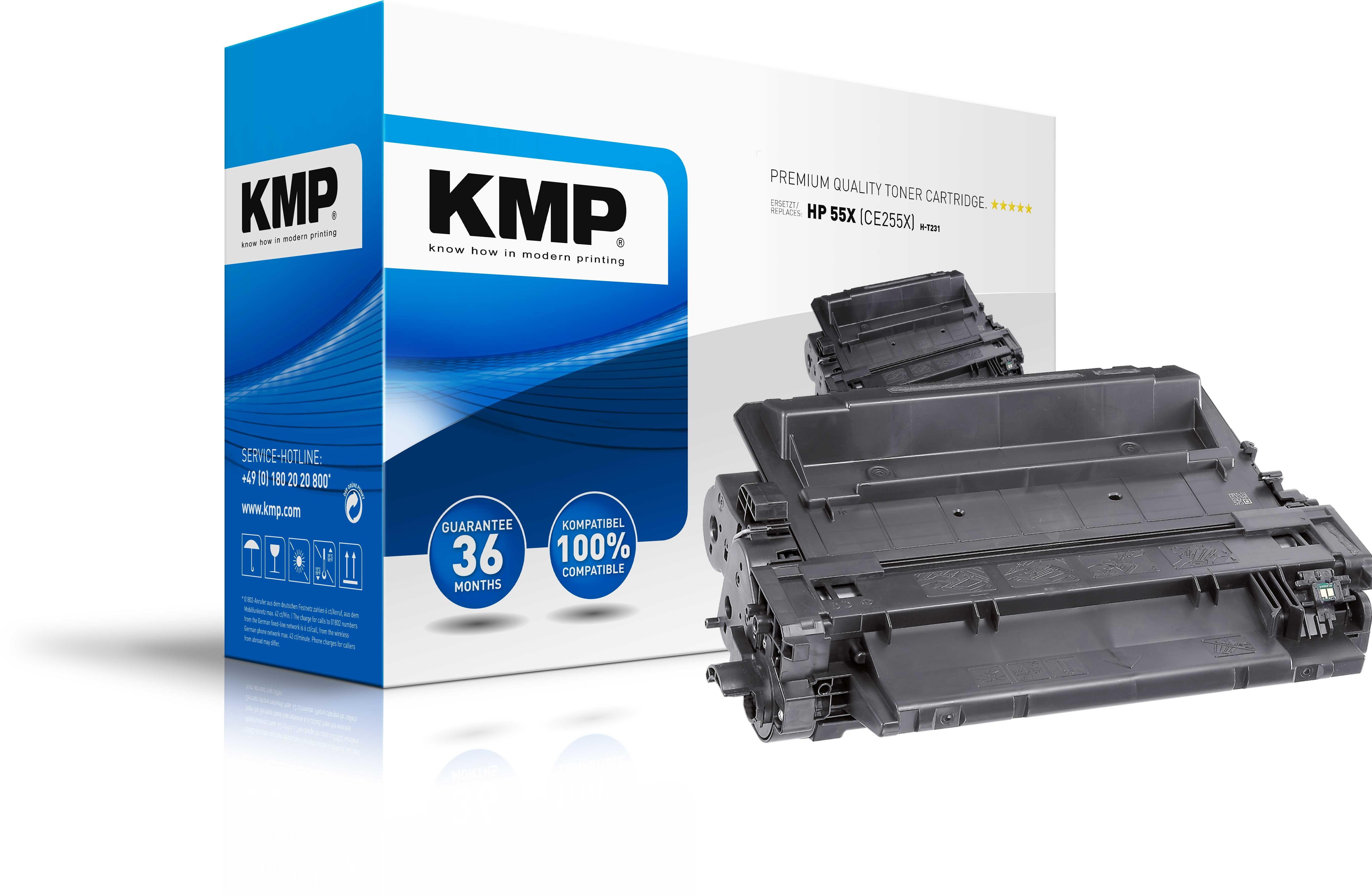 KMP Toner H-T231  für HP 55X Laserjet P3015 etc. black