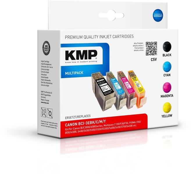 KMP Vorteilspack C5V komp. zu BCI-3e Canon Pixma iP 3000 i560 BJ