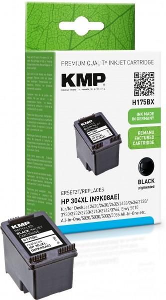 KMP H175BX schwarz Tintenpatrone ersetzt HP DeskJet HP 304XL (N6K08AE)