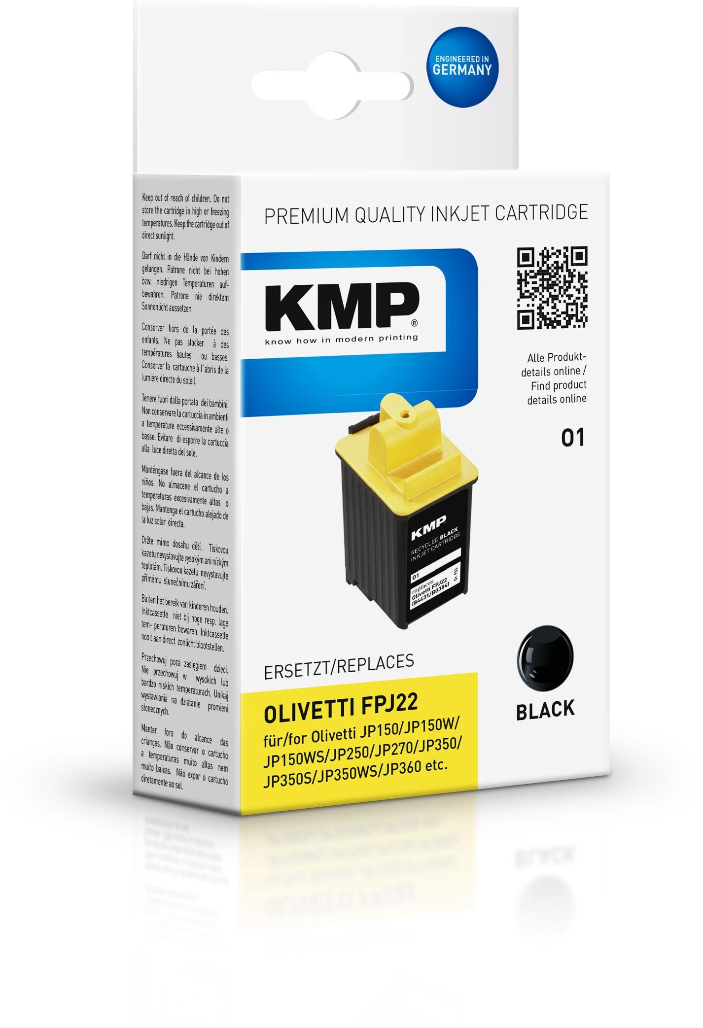 KMP Patrone O1 komp. zu FPJ22 Olivetti JB 150 250 schwarz