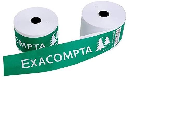 10x EXACOMPTA Bonrollen 1-lagig 60g/m² 44mm x 70m x 12mm - 40728E