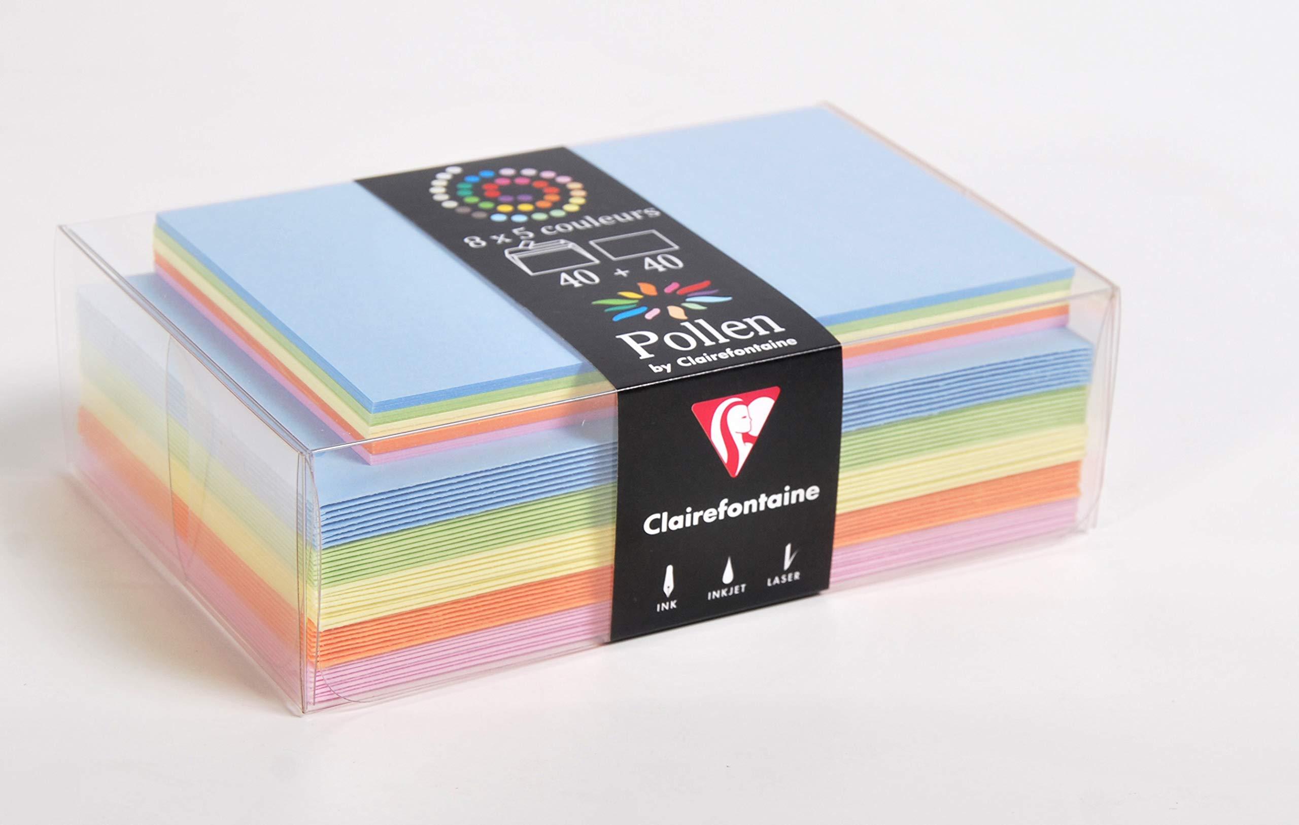 Farblich sortierte Umschläge & Karten Frühling als Set (Deutsch) Bürobedarf & Schreibwaren
