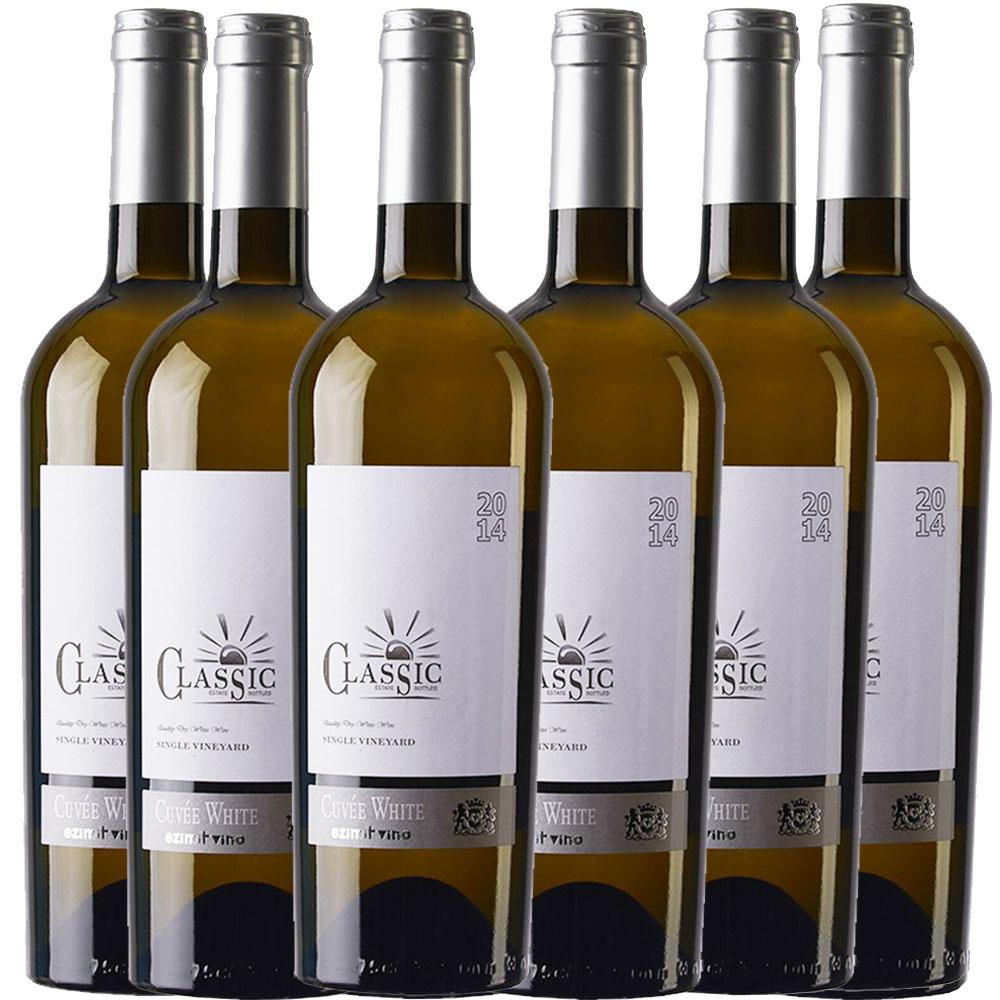 6x 0,75L Classic Cuvée White Ezimit Grup WCO Mazedonien trocken 2014 - 12,5% - 7,77€/L