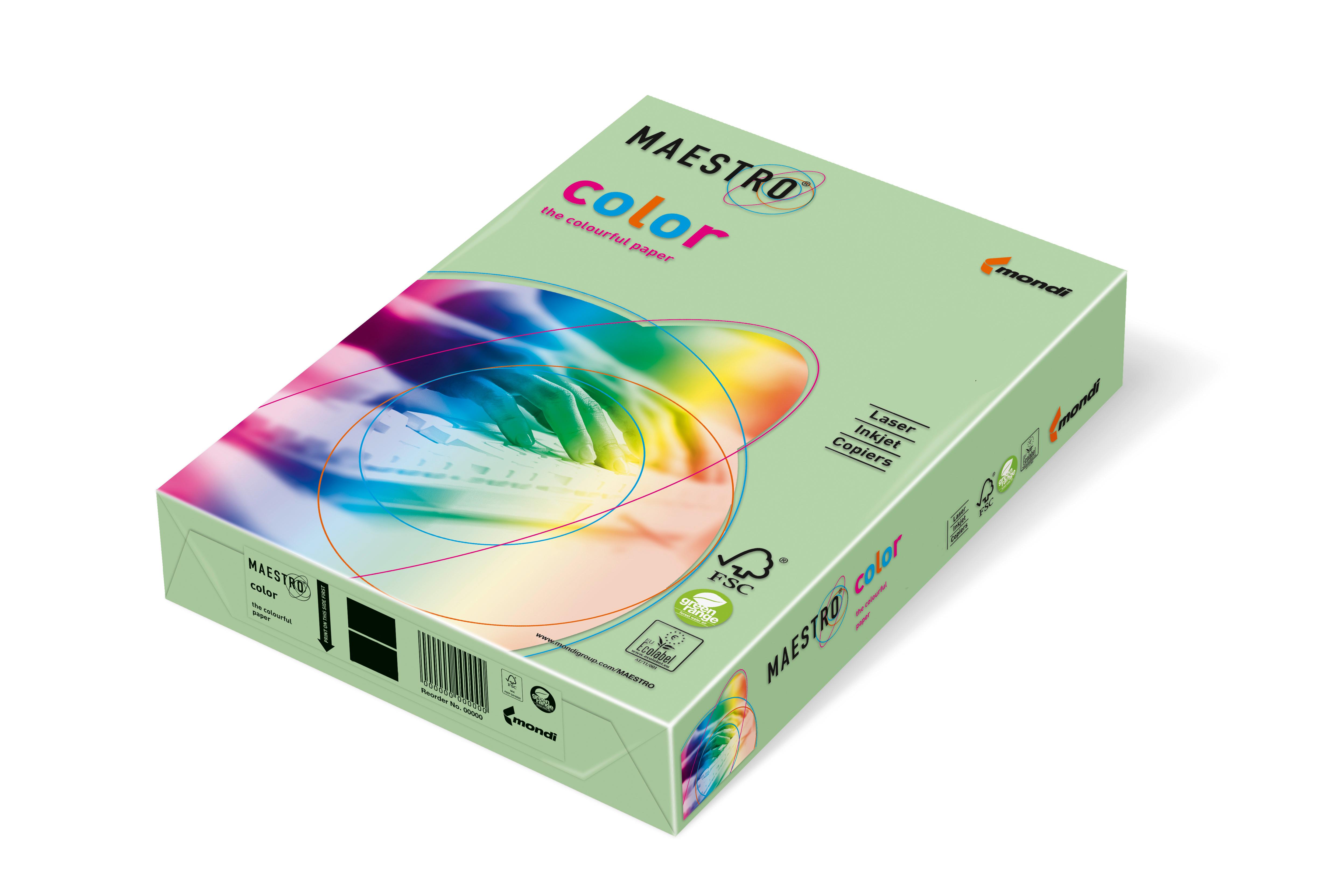 Vorschau: Mondi Maestro Color mittelgrün 160g/m² DIN-A4 - 250 Blatt MG28