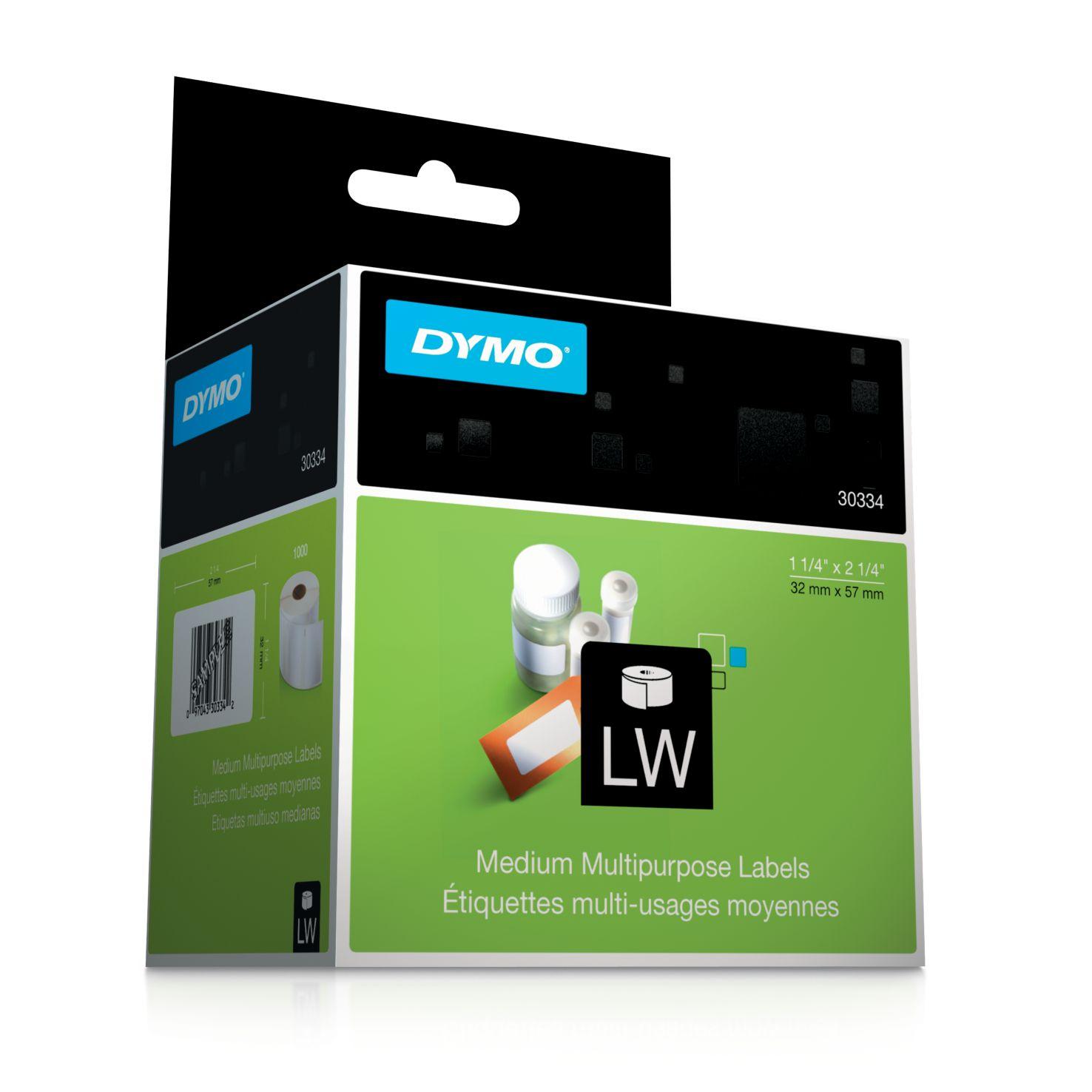 Dymo Label Writer-Vielzweck-Etiktten ws 32 x 57 mm weiß