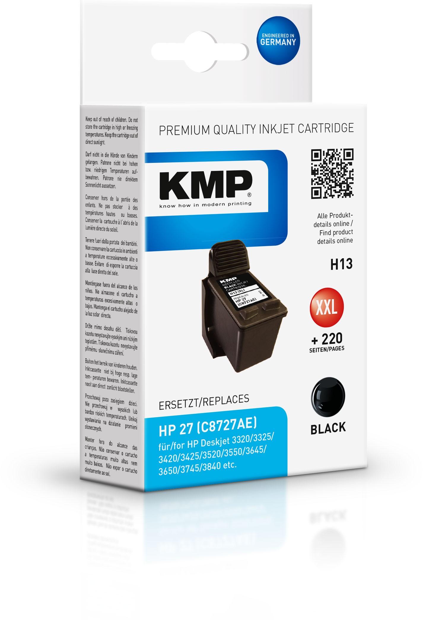 KMP Patrone H13 komp. zu HP 27 C8727AE DeskJet 3420 3845 black
