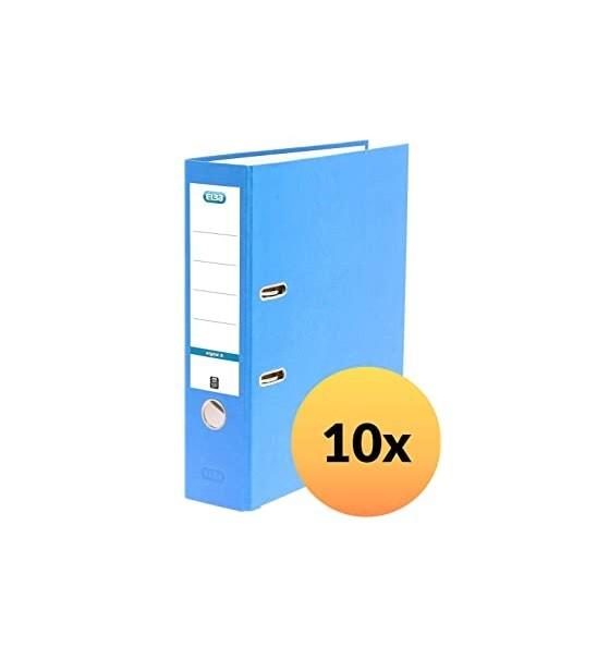 ELBA 100202215 Ordner smart Original Papier 10er Papier 8 cm breit DIN A4 Blau - für den täglichen G