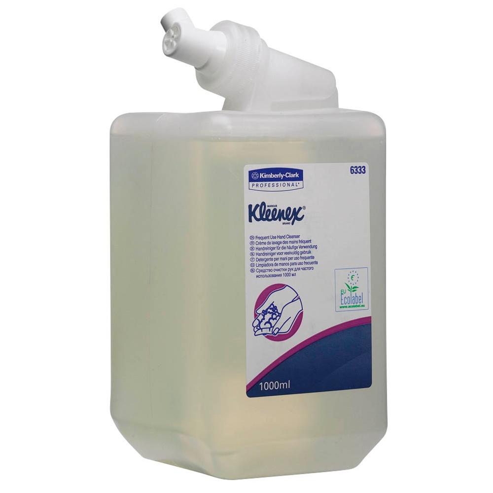 Kleenex Flüssig-Handseife, Für den täglichen Gebrauch, Transparent/Parfümfrei, 1 x 1 L Behälter, 633