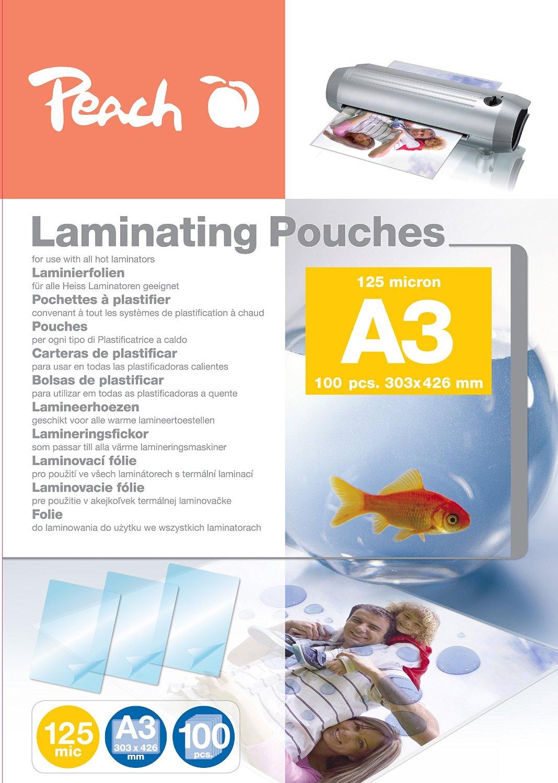 Peach Laminierfolien A3, 125 mic, glänzend, PP525-01, 100 Stück