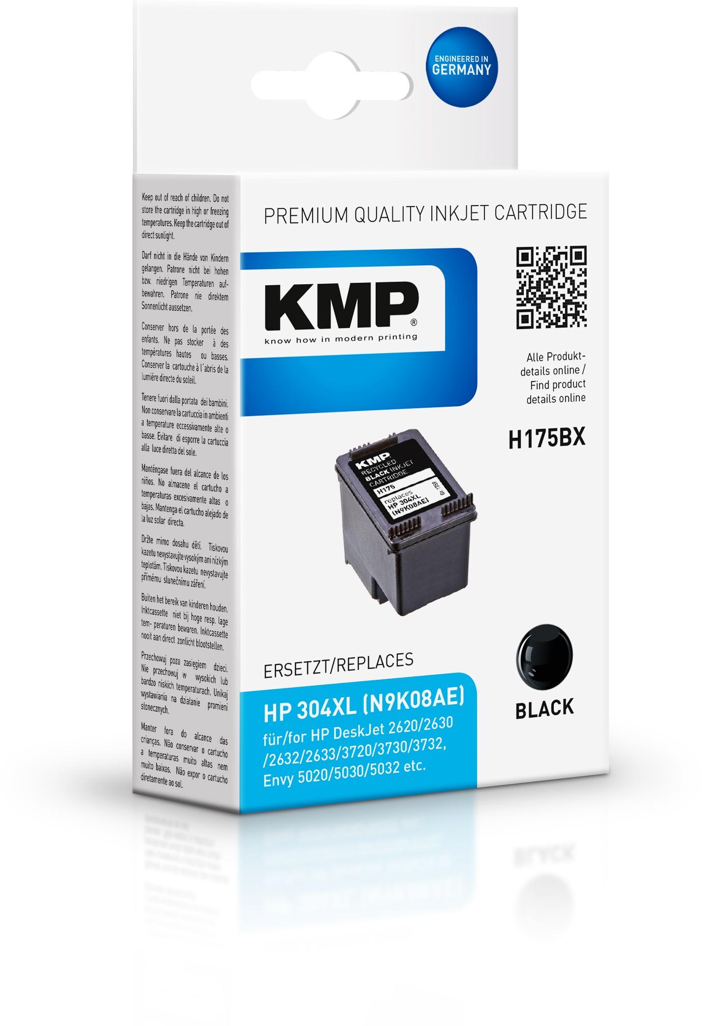 KMP Patrone H175BX für HP 304XL (N9K08AE)