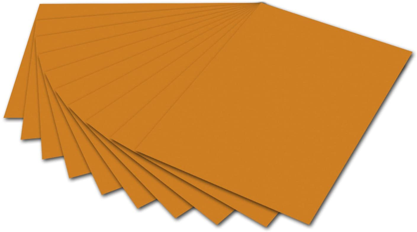 folia 6176 - Fotokarton Terracotta, 50 x 70 cm, 300 g/qm, 10 Bogen - zum Basteln und kreativen Gesta