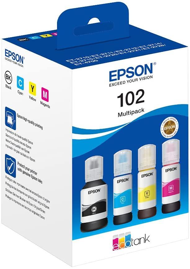Epson C13T03R640 Tinte (4) Cyan, Magenta, gelb, schwarz 337 ml 25.500 Seiten Flasche EcoTank 102, St