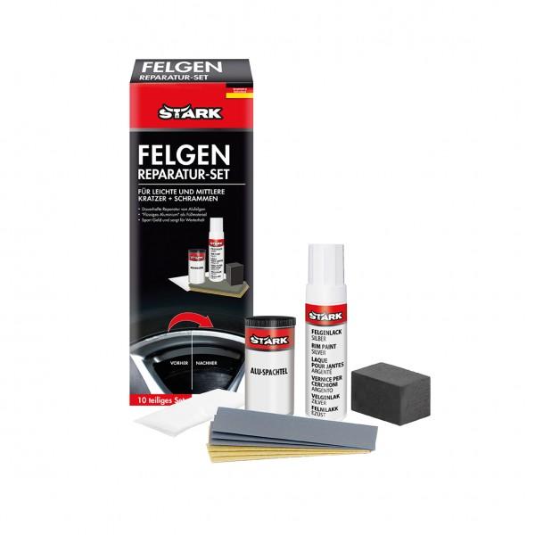STARK 40072 Felgenreparatur-Set 10-teilig für leichte und mittlere Kratzer + Schrammen