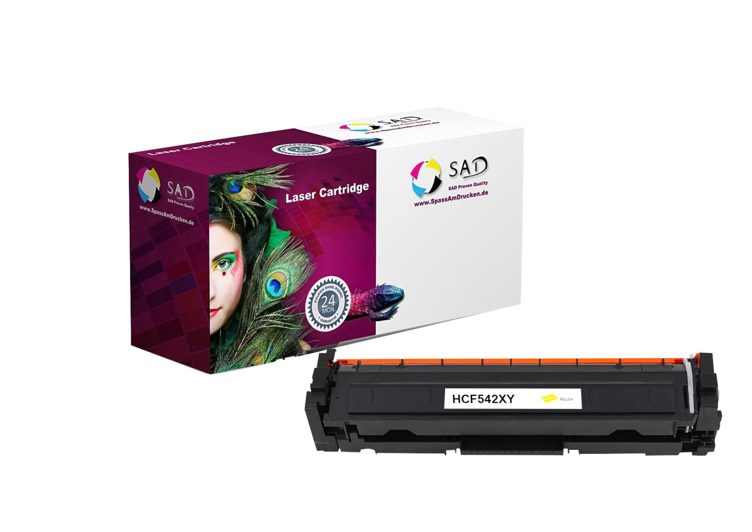 SAD Premium Toner komp. zu HP 203X - CF542X yellow für HP LaserJet Pro M254, HP LaserJet Pro M280, H