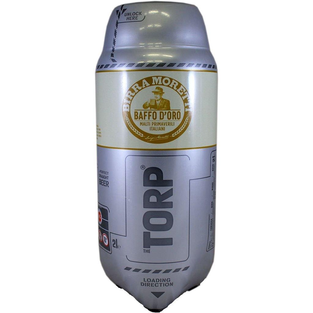 Moretti Baffo d'oro TORP 1 x 2L Packung - Bierfass kompatibel mit der Bierzapfanlage THE SUB